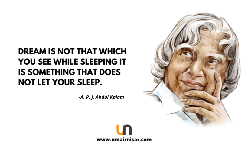 dr. A. P. J. Abdul Kalam quotes on dream