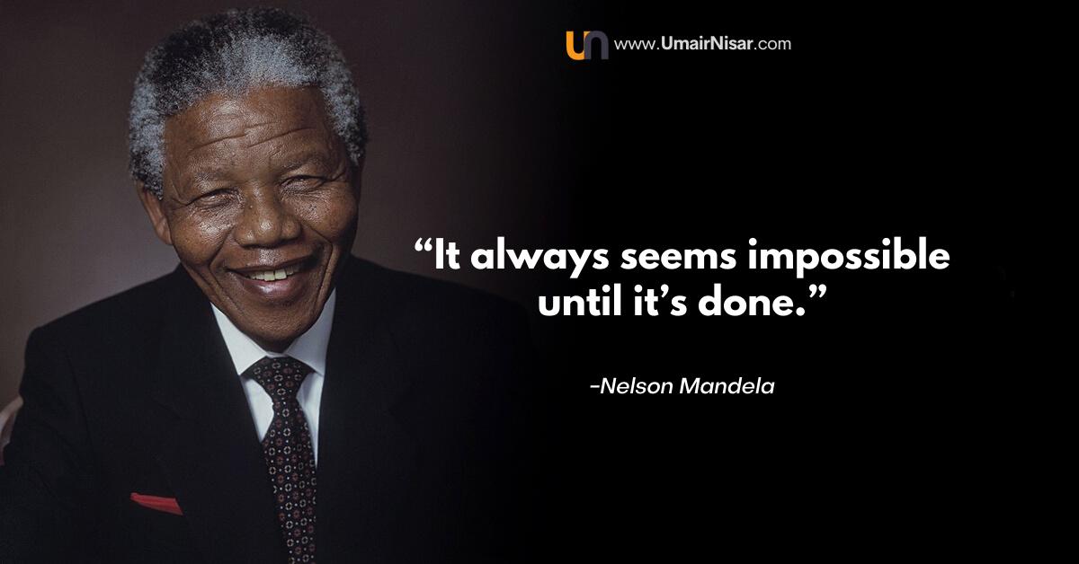 Nelson Mandela Inspirational Life Quotes On Life