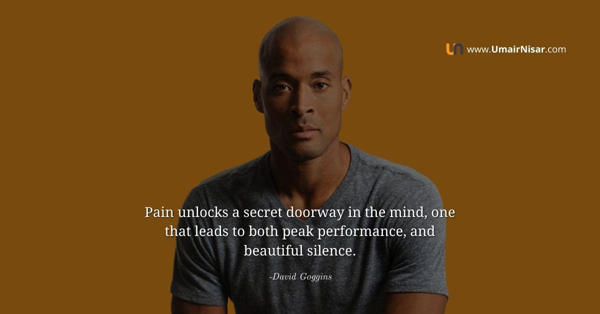 david goggins quotes on pain